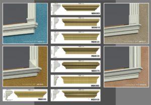 Davanzali per finestre in polistirolo resinato